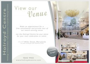 View our Venue the award winning Holroyd Centre