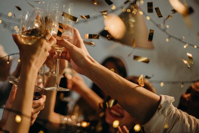 Celebration, cheers, champagne, friendship